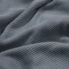 denim steel 2x1 rib knit heavy weight 55 cotton knit fabric
