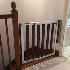 Child Stair Gates Lindam Numi Extending Dark Wood Stair Gate Safety Gate In