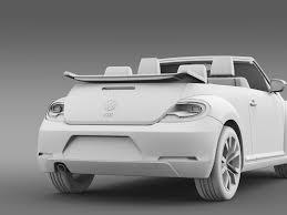 volkswagen beetle studio max 3d vw beetle tdi cabrio 2014 by creator 3d 3docean