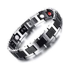man magnetic bracelet images Auryaspower 4001 silver black 4 in 1 magnetic jpg