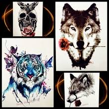 wolf tattoo sleeves reviews online shopping wolf tattoo sleeves