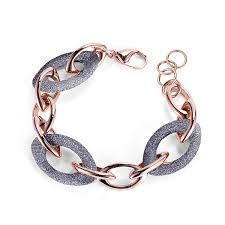 rose gold link bracelet images Link bracelet hook bracelet with circle frain int l design jpg