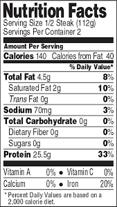 Nutrition Facts For Cottage Cheese by Bison Nutrition Facts Nutrition Daily