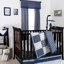 Zig Zag Crib Bedding Set The Peanut Shell 4 Piece Baby Boy Crib Bedding Set Navy Blue