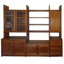Wall Unit Bookshelves - vintage teak scandinavian modern dyrlund style wall unit bookcase