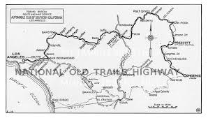 map us highway route 66 national trails highway