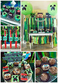 Minecraft Table Decorations Constructing Minecraft Cake Designs And Block Party Ideas