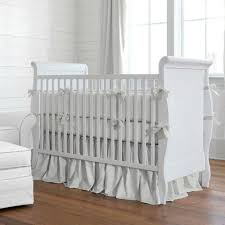 solid silver gray crib bedding carousel designs