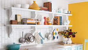 kitchen wall shelving ideas built in kitchen wall shelf