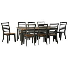 9 piece dining room sets signature design by ashley quinley contemporary 9 piece dining
