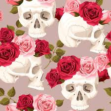 skulls and roses seamless stock vector illustration of 68217439