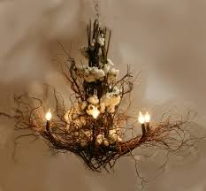lighting up my life with a white twig chandelierfunky junk