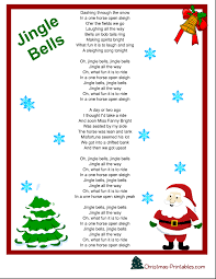 words to jingle bells printable printable paper