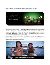 Miami Video Production Video Production Miami Regulus Films Miami Video Production Compa U2026