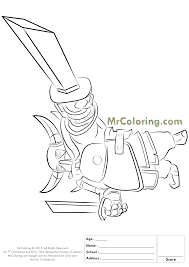 free printable clash of clans pekka knight coloring pages 2