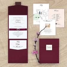 wedding invitations burgundy 2016 new arrival burgundy rhinestone wedding invitation with rsvp