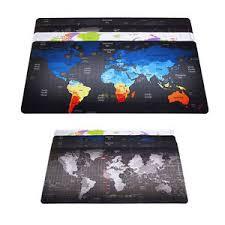 Gaming Desk Mat Speed Gaming Desk Mat Mouse Pads Laptop Computer World Map Large
