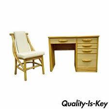 Modern Desk Ls Vintage Mid Century Modern Grasscloth Rattan Bamboo Desk Chair