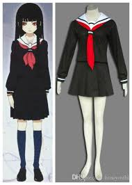 hell enma ai winter uniform anime cosplay halloween costumes