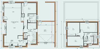 plan de maison a etage 5 chambres plan maison 120m2 avec etage awesome maison r 1 120m2 décoration