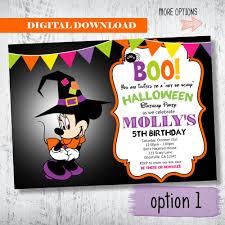 minnie mouse halloween invitation minnie mouse halloween