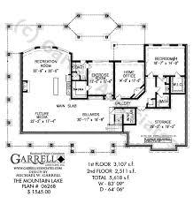 mountain lake house plan craftsman house plans