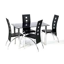 Glass Dining Table For 6 Glass Dining Tables And 4 Chairs Furnitureinfashion Uk Dining