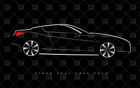 sports cars side view outline of luxury sport car side view vector clipart image