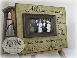 50th anniversary gift ideas for parents parents thank you gifts wedding personalized picture frame 50th