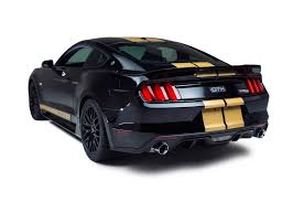 Mustang Yellow And Black Hertz And Shelby Reveal 50th Anniversary Ford Shelby Mustang Gt H