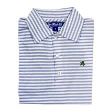 light blue striped polo dress the j bailey striped short sleeve polo in light blue and white