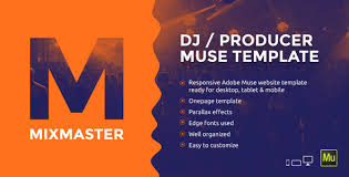 mixmaster dj producer website muse template by vinyljunkie