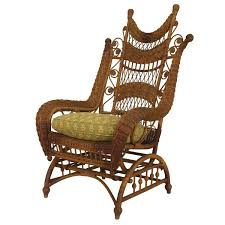 Blue Wicker Rocking Chair Ornate Wicker Platform Rocking Chair For Sale At 1stdibs