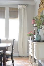 ivory linen window treatments with ruffle detail the stunning