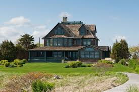 beachfront victorian style home comes with historic lighthouse for