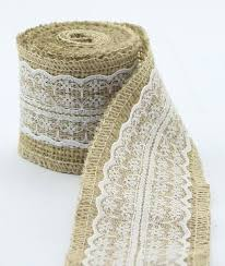 burlap and lace ribbon burlap and lace ribbon burlap jute rolls with lace ribbon