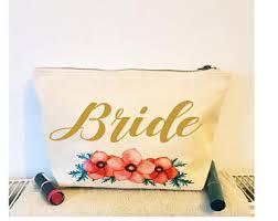Bridal Makeup Bags Bride Cosmetic Bag Etsy