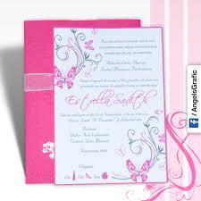 invitaciones para quinceanera tarjeta de invitación para quince años qn 6096 graphic
