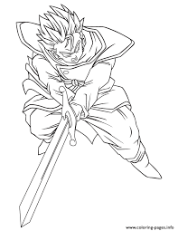 dragon ball trunks character coloring coloring pages printable