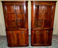 Corner Dining Room Cabinet by Corner China Cabinet Beautiful Century Mahogany Curved Glass