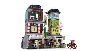 lego ideas japanese town modular