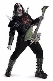 Halloween Costumes Kiss Heavy Metal Mayhem Size Xxl 50 52 Rocker Zombie Halloween