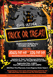 club ultima u0027s halloween trick or treat party club ultima