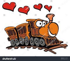 funny cartoon train love hearts stock vector 32516830 shutterstock