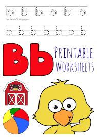 free letter b worksheets instant download free homeschool deals
