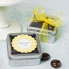 wedding favor containers square wedding favor tins square clear topped favor tins