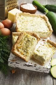 recette de cuisine salé recette tarte salée aux courgettes feta et menthe