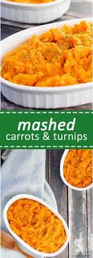 mashed carrots and turnips an easy low carb alternative to