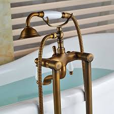 Tub Faucet With Handheld Shower Senlesen Antique Brass Floor Mounted Bathroom Tub Faucet W Hand