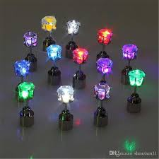 light up christmas earrings led earrings light up crown shaped fashion shiny studs flashing